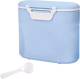 Portable Formula Dispenser with Scoop by Accmor, BPA Free Milk Powder Container, Food Storage, Candy Fruit Box, Snack Containers, for Infant Toddler Children Travel (Green, Pink, Blue)