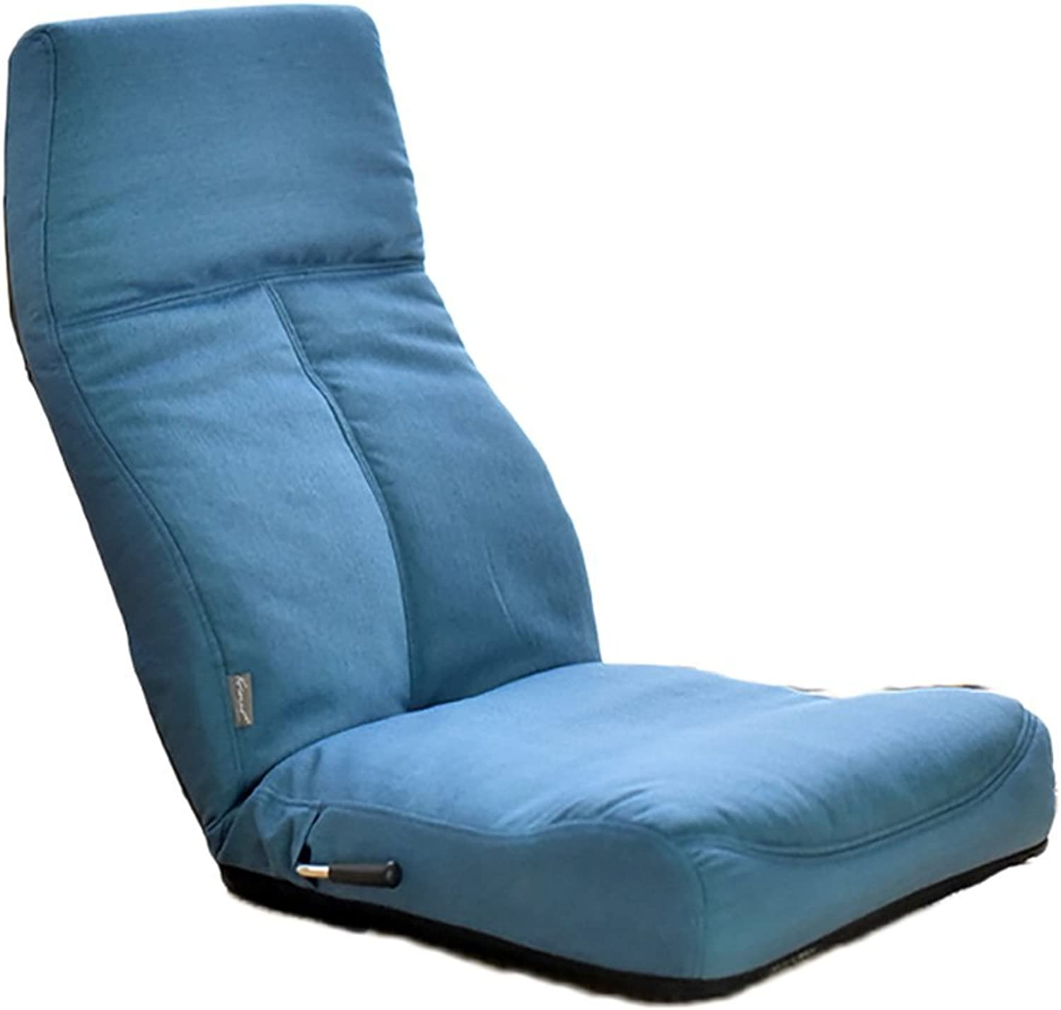 HTZ Lazy Sofa Backrest Foldable Single Chair Bed Floating Window Sofa Chair + (color   blueE)