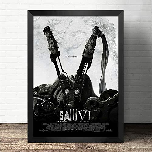 zxkx Saw TV Cartel de la película Lienzo Art Print Poster Dormitorio Sala de Estar Cuadro de la Pared Pintura Decoración del hogar Pintura al óleo 80x100 cm