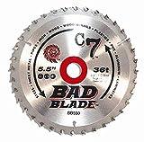 KwikTool USA BB550 C7 Bad Blade 5-1/2' 36 Tooth With 5/8' Arbor
