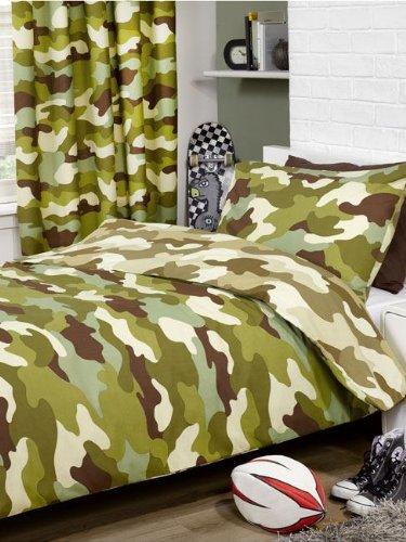 Camouflage Einzel Bettdecke und Kopfkissen Set