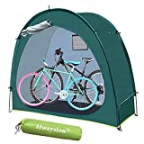 Hwayslon 2021 Upgrade Bike Tent,Outdoor Bike Covers Storage Shed Tent Portable Bicycle Tent 210D Silver Coated Oxford Thick Waterproof Fabric with Window for Outdoor,Garden,Camping,Hiking (Green)