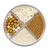Wilton Pearlized Gold Sprinkles, 3.8 oz. Edible Gold Glitter...