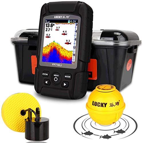 Fish Finder, Waterproof Depth Detector Intelligent Sonar Sensor...