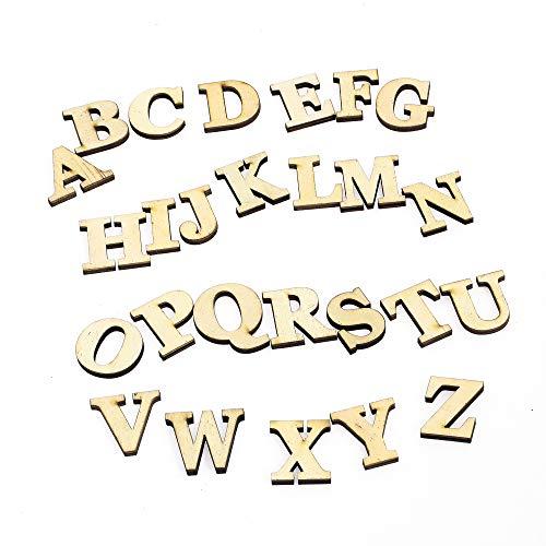 森の紙 天然木 ウッド 切り文字 アルファベット 英字 A~Z 2個セット