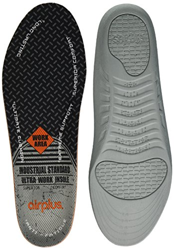 Airplus Ultra Work Memory Plus Shoe Insoles for All Day Comfort and Foot Pain Relief, Mens, Size 7-13