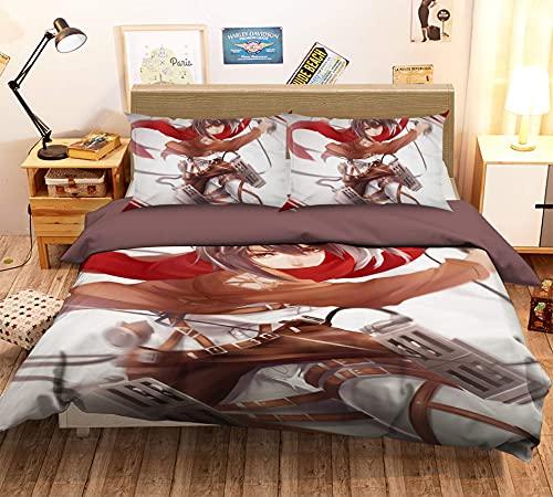 copripiumino yugioh Super Soft 3D Copripiumino Stampato Set copripiumino e federe per letto super morbido Wallpaper Attack on Giant Japan Yugioh | Copripiumino singolo: incluso copripiumino matrimoniale 1: 135 * 200