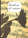 cuaderno de música: pentagramas para escribir notación musical.