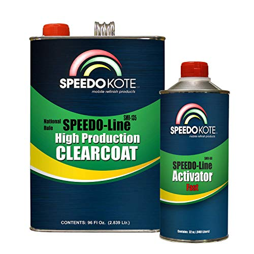 Speedokote SMR-135/60 - Automotive Clear Coat Very Fast Dry 2K Urethane, 3:1 Mix Gallon Clearcoat Kit w/Fast Act.