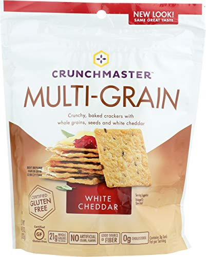Crunchmaster Gluten Free Crackers, White Cheddar Flavor, 4.5-Ounce (Pack of 4)