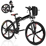 2021 New Folding Electric Commuter Bike 26 Inch 21 Speed Mountain Bike with 36V 8AH Lithium-Ion Front Battery&250W Stable Motor