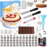 95 pcs Cake Decorating Supplies Kit by Cake Decorating District - Includes 48