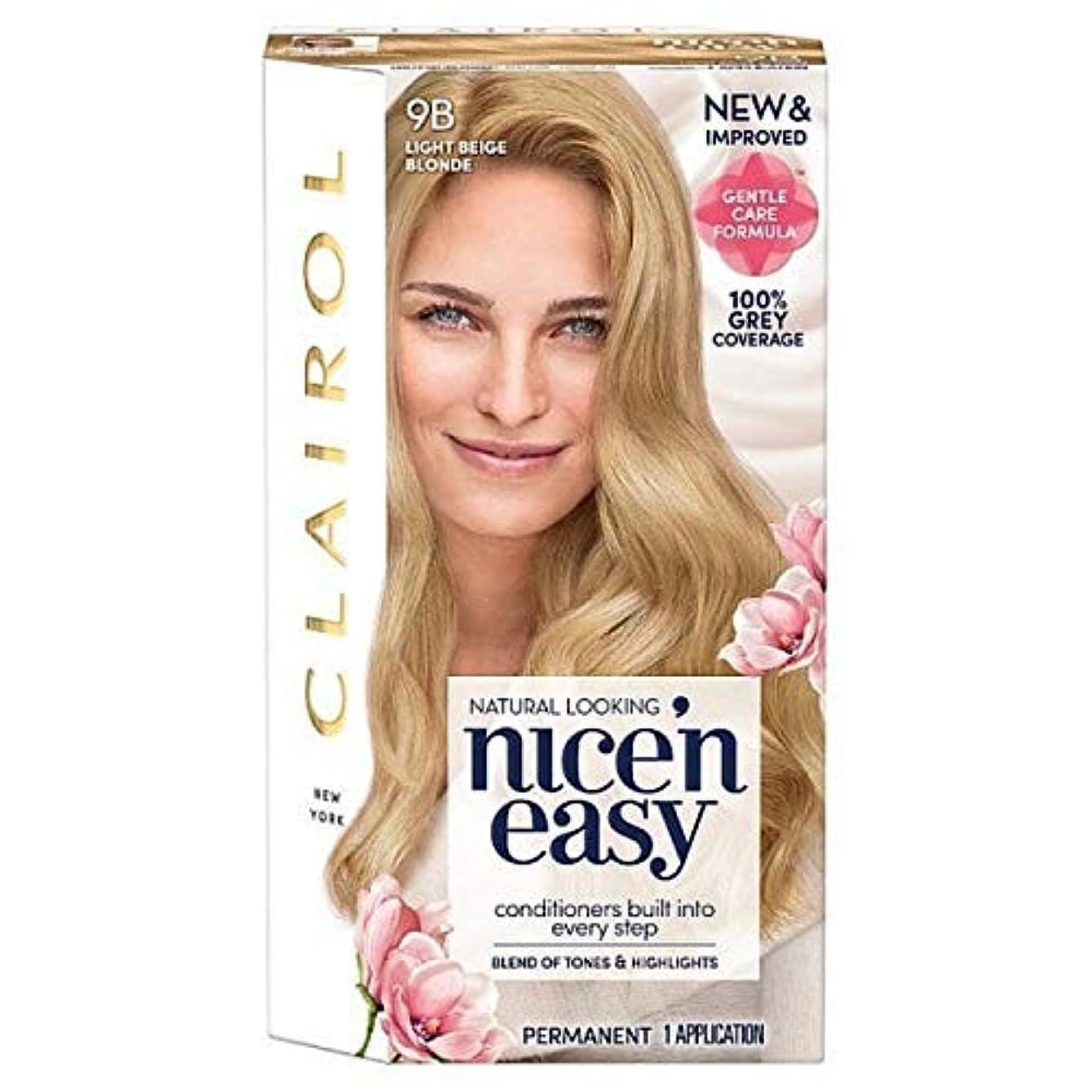 費用正当化する取り囲む[Nice'n Easy] Nice'N簡単9Bはライトベージュブロンド - Nice'n Easy 9B Light Beige Blonde [並行輸入品]