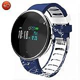 CatShin Fitness Tracker Smartwatch-Fitnessuhr CS06 Fitness Armband IP67 Wasserdicht Armband Sport Activity Tracker für Herren Schrittzähler Blutdruck Pulsmesser Kalorienzähler-Android/IOS...