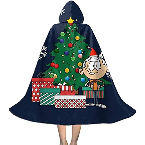 Niet van toepassing Unisex Cosplay Rol Kostuums, Capuchon Cape, Volwassen Robe Mantel, Lincoln Loud Huis Rond De Kerst Boom Vampier Mantel, Halloween Party Decoratie Outwear,Witch Wizard Mantel