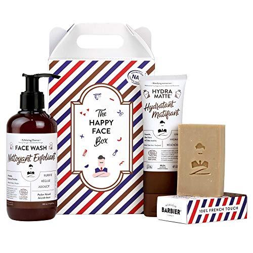 Monsieur BARBIER Coffret Cadeau Soin Visage pour Homme HAPPY FACE