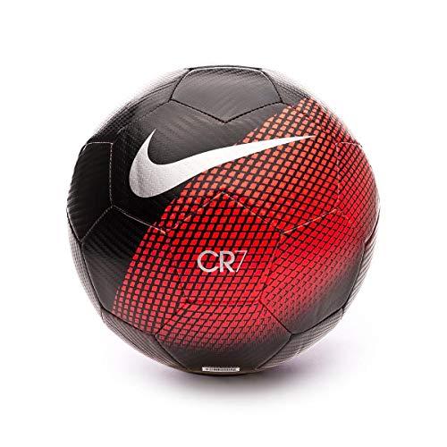 Nike CR7 Prestige Football Black/Silver 18/19 SIZE 5 Black/Silver