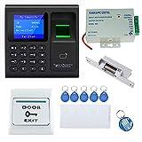 OBO HANDS Sistema de Control de Acceso a la Puerta Kit con Teclado Multifuncional + Fuente de Alimentación + Botón de Salida + 10 Ilaveros
