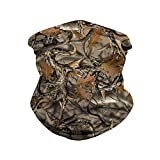 Ainuno Camo Bandana Mask for Men Women Neck Gaiter Balaclava Face Cover for Hiking Motorcycle Riding,Camo Leaves