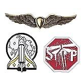 3 Unids Último De Nosotros 2 Ellie Broche Pines Gold Spaceship Badge Broches para Los Fans Cosplay Jewelry Regalo
