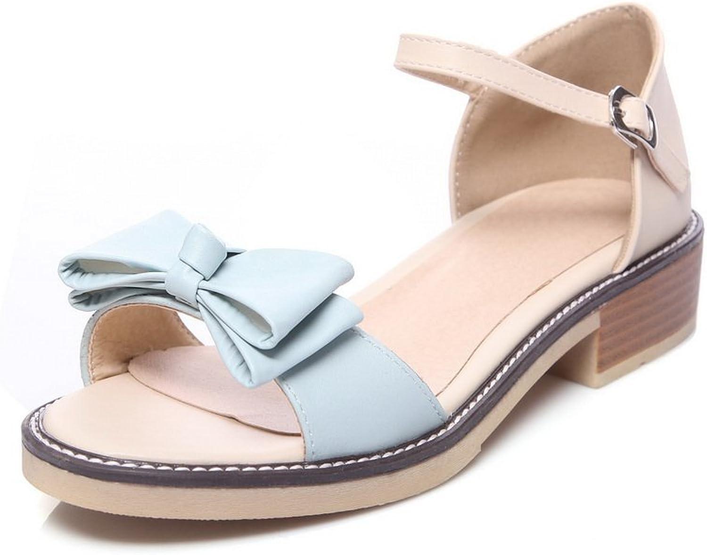 BalaMasa Womens Sandals Peep-Toe Huarache Smooth Leather Urethane Sandals ASL04443