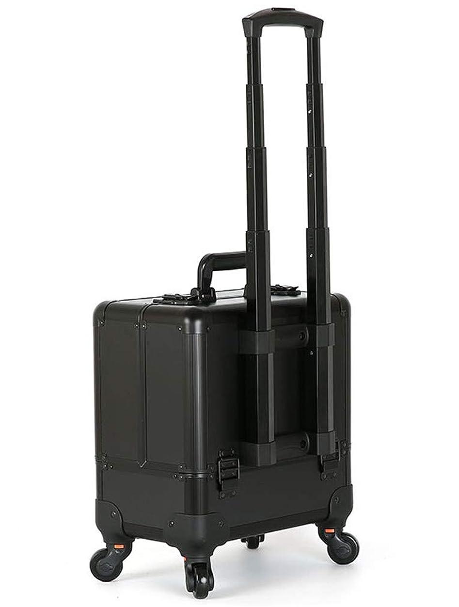 黒改善する温室大容量移動ラバー化粧箱職業化粧道具収納ボックス