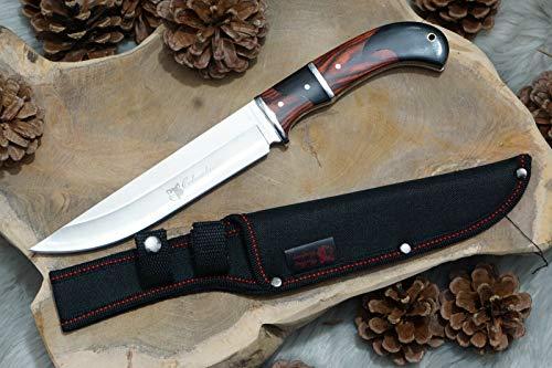 ABMERAH Jagd Bowie Arbeitsmesser Survival Knife Jagdmesser Outdoor Bowiemesser Tactical Jagd Survival Messer scharfes Messer Knife Messer Columbia Messer schickes Design Edelstahl