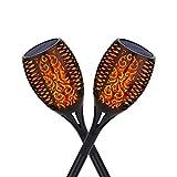 Kinglead Lámpara Solar Llamas Jardín Antorchas 96 LED Luz Jardín Prueba Agua [Clase de eficiencia energética A] (2 PIEZAS)
