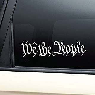 Nashville Decals We The People United States Constitution Vinyl Decal Laptop Car Truck Bumper Window Sticker