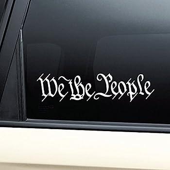 Nashville Decals We The People United States Constitution Vinyl Decal Laptop Car Truck Bumper Window Sticker