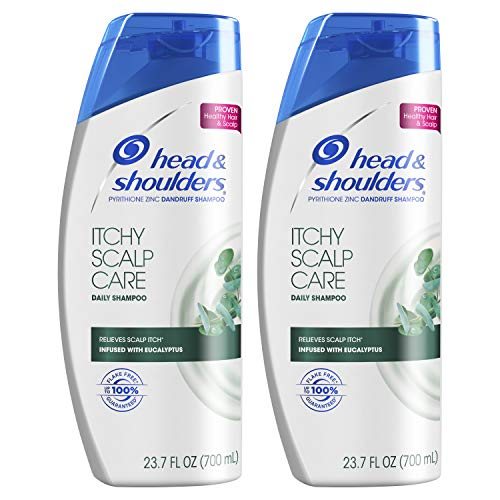 Head & Shoulders Itchy Scalp Care Anti-Dandruff Shampoo, Infused with Eucalyptus, 23.7 Fl Oz, Twin Pack