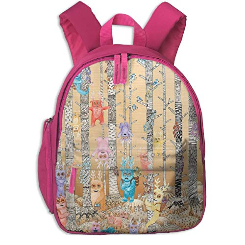 ADGBag Kinderrucksack Schultasche Bugaboo Forest Cute Deer Birds Children's/Kids School/Nursery/Picnic/Carry/Travelling Bag Backpack Daypack Bookbags
