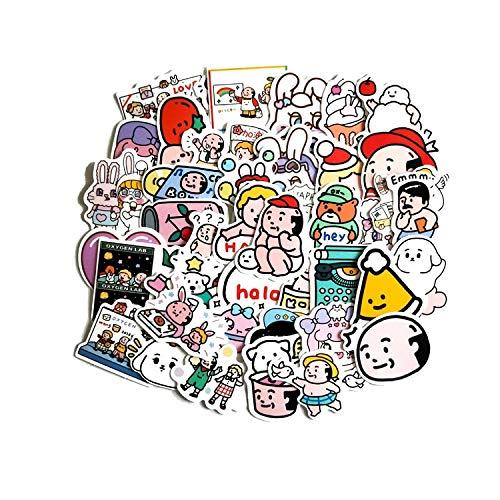 LVLUO Mini Pegatinas de animación DIY de Dibujos Animados Coreanos decoran Minnie Pegatinas extraíbles Impermeables para niños 40 Piezas