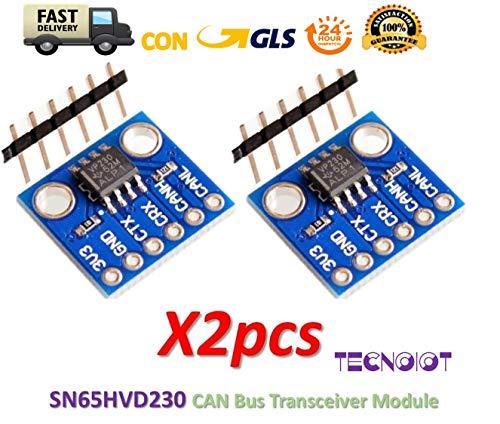TECNOIOT 2pcs SN65HVD230 CAN Bus Transceiver Communication Module for Arduino