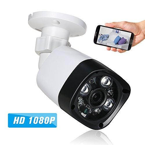 "OWSOO IP Kamera 1080P HD POE 2.0MP 4mm 1/3\""CMOS H.264 P2P Onvif 3 Array IR-Lampen Nachtsicht IR-Cut Motion Detection Telefon APP Control Home Security"