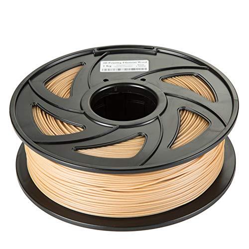 FAN-MING-N-3D, Hout PLA 3D Printer Filament 1.75mm 1KG Goede Houten Effect 3D Printing Materiaal voor MakerBot