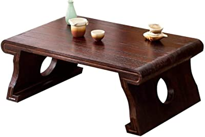 LXZDZ Edge Coffee Table Small, Hairpin Coffee Table, Natural Wood End Table, Wood Slab Table