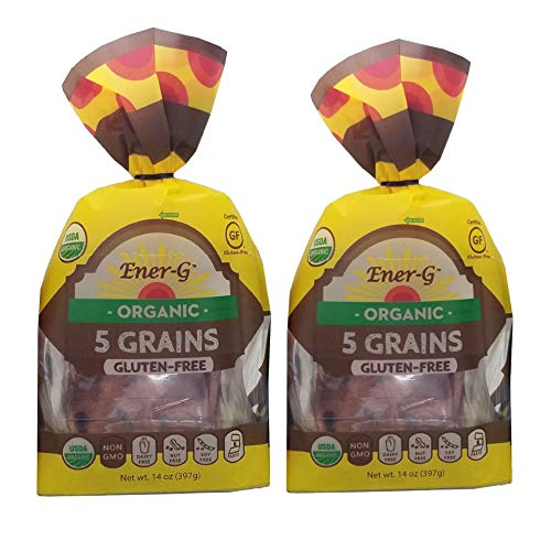 Gluten Free 5-Grains Loaf by Ener-G | Organic, Non-GMO, Kosher Sliced Bread | Double Pack-14 oz/ 12 Slice Loaf