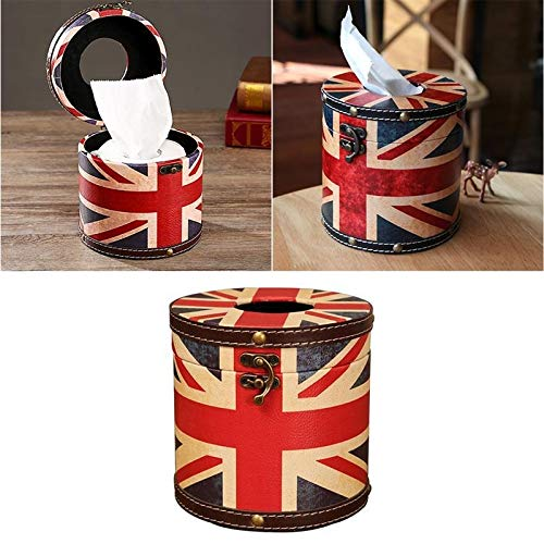 caja de pañuelos de cuero caja de pañuelos estilo Inglaterra clásico Morden moda popular caja de papel dispensador bandera de arroz creativo cuero caja de pañuelos