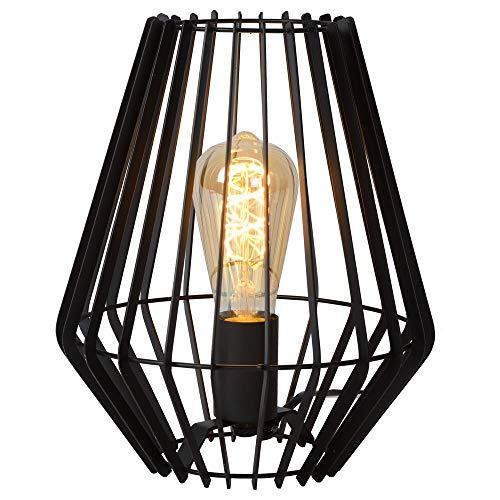 Tischleuchte & Nachttischlampe Tischleuchte in Schwarz 235mm REDA E27 Metall Wohnzimmer | 1-flammig