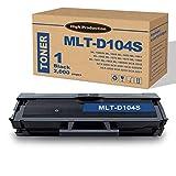 MLT-D104S Black Toner Cartridge (1-Pack) Replacement for Samsung ML-1660/N 1665 1655 1661 1666 SCX-3200 3201 3205/W 3218 Printers,by Lutyeink.