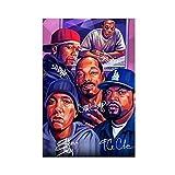 Leinwand-Poster, Motiv: Hip Hop Rapper Dr. Dre, 50 Cent,