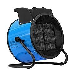ALLEGRA värmefläkt 9 KW keramisk elvärmare byggvärmare med termostat och ca. 1,5 m matarledning (H92)