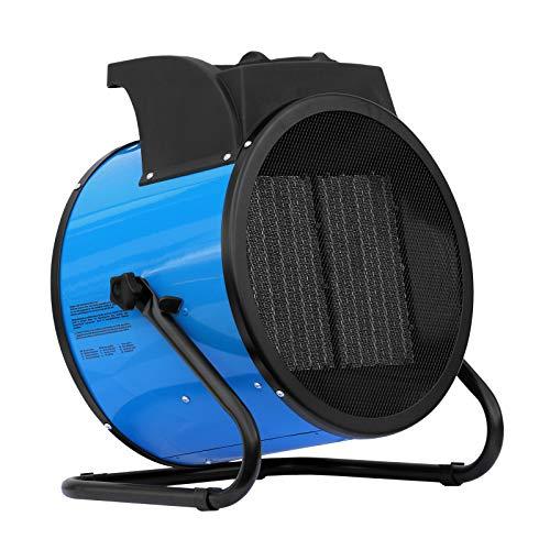 ALLEGRA Heizlüfter 9 KW Keramik Elektroheizer Heizgerät Bauheizer mit Thermostat und ca. 1,5m Zuleitung (H92)