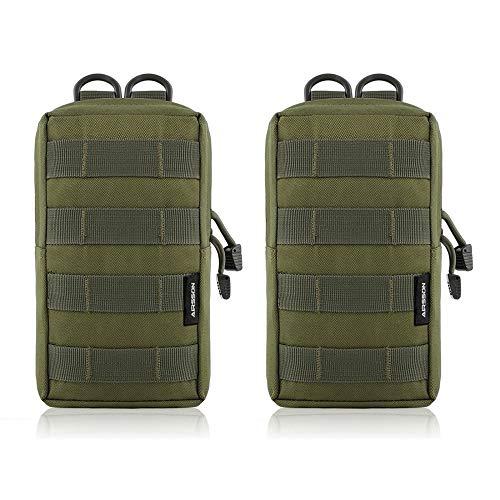 Molle Pouch, 2CPS Bolsa táctica utilitaria multifunción, bolsa de cintura, bolsa de...