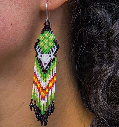 Jicararte - Arte Huichol - Pendientes huicholes