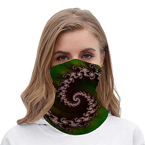 Benthic Saltlife Fractal Tribute for Reef Divers Neck Gaiter Tube Mask Headwear, Seamless Face Cover Mouth Mask Bandanas for Dust, Outdoors, Festivals, Sports White