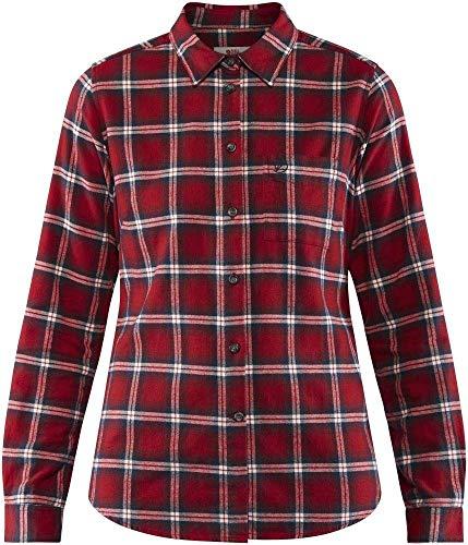 Fjallraven Damen Övik Flannel W Long Sleeved T-Shirt, Deep Red, L