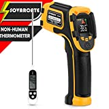 Infrared Thermometer No Touch Digital Laser Temperature Gun with Color Display -58℉~1112℉(-50℃~600℃) Adjustable Emissivity - for Cooking/BBQ/Freezer - Meat Thermometer Included -Non Body Thermometer