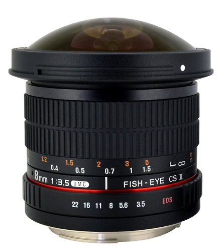 Rokinon HD8M-C 8mm f/3.5 HD Fisheye Lens
